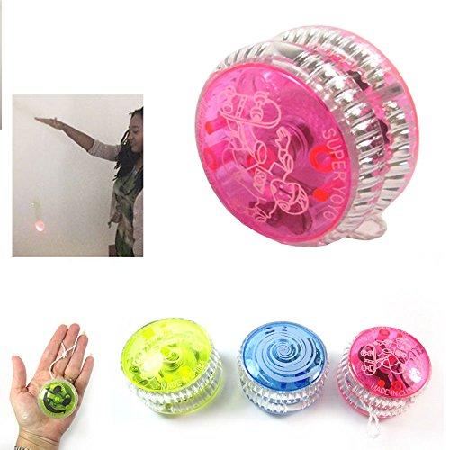 1 Flashing YoYo Ball Light Up Juggling Magic Toy Glow Moves Flashing LED Color