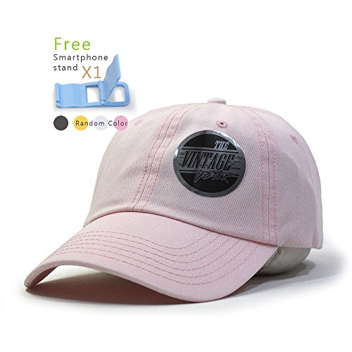 Classic Washed Cotton Twill Low Profile Adjustable Baseball Cap (Soft Pink) ()