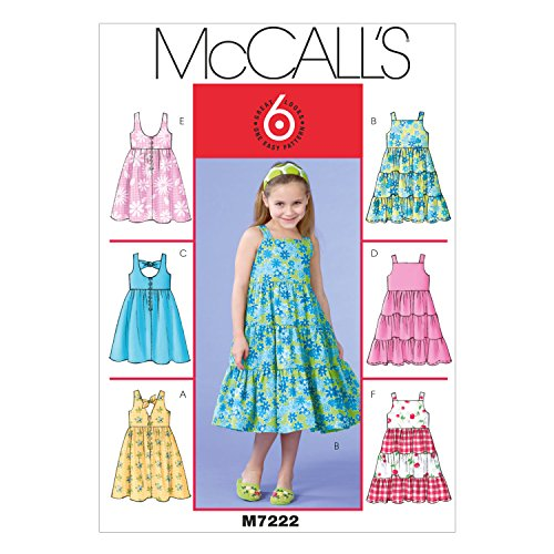 - McCall's Patterns M7222 Children's/Girls' Dresses Sewing Template, CDD (2-3-4-5)