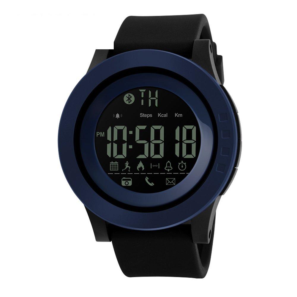 Skmei Casual reloj inteligente hombres reloj Digital impermeable de los deportes bluetooth podómetro contador de calorías, color azul: Amazon.es: Relojes
