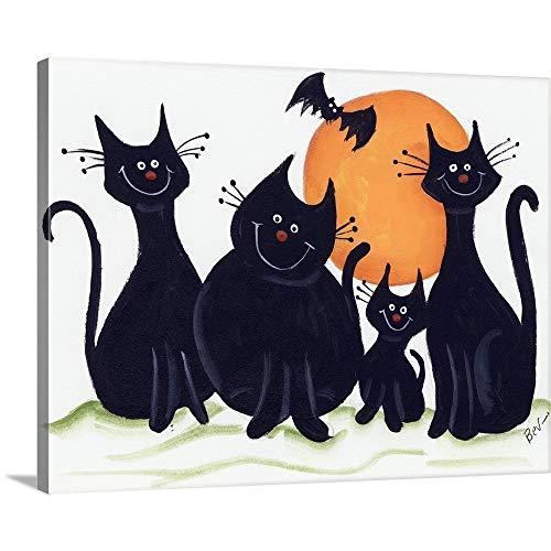 Halloween Kitties Canvas Wall Art Print, 16