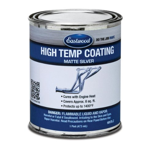 Eastwood Silver Heat Resistant High Temperature Paint Pint by Eastwood