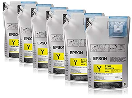 Epson UltraChrome DS Yellow T741400 (1Lx6packs) - Cartucho de ...