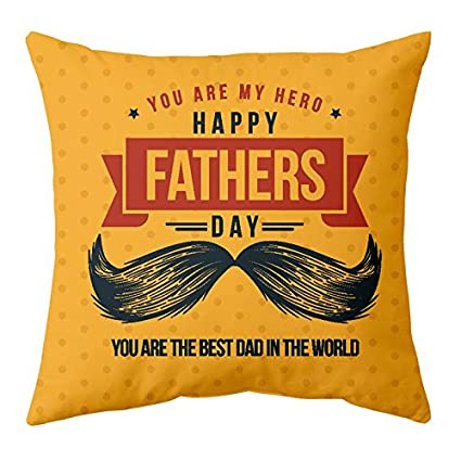 Buy Gift Wrap Fathers Day Gifts For Dad Digital Printed Cushion Cover Happy From Son Daughter 12X12 Inches Online At Low Prices In