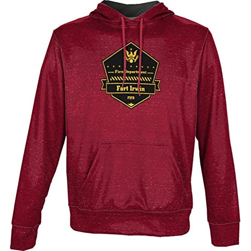 cheap ProSphere Boys' Fort Irwin Fire Department Heather Hoodie Sweatshirt (Apparel) on sale