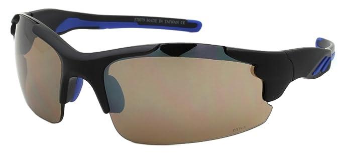 d527c5e5db Edge I-Wear Semi-Rimless Sports Sunglasses with Flash Mirrored Lens  570079 FM