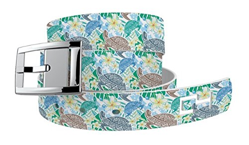 C4 Belts Sea Turtles Green Classic Belt with Silver Buckle