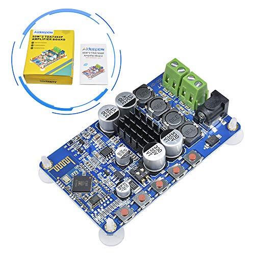Aideepen 50W + 50W TDA7492P 2x50 Watt Dual Channel Amplifier Wireless Digital Bluetooth 4.0 Audio Receiver Amplifier Board (Blue)