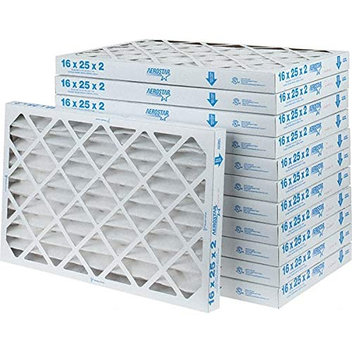 Made in USA 7 Pack 16 Nom Height x 25 Nom Width x 2 Nom Depth Fiberglass Wire-Backed Pleated Air Filter
