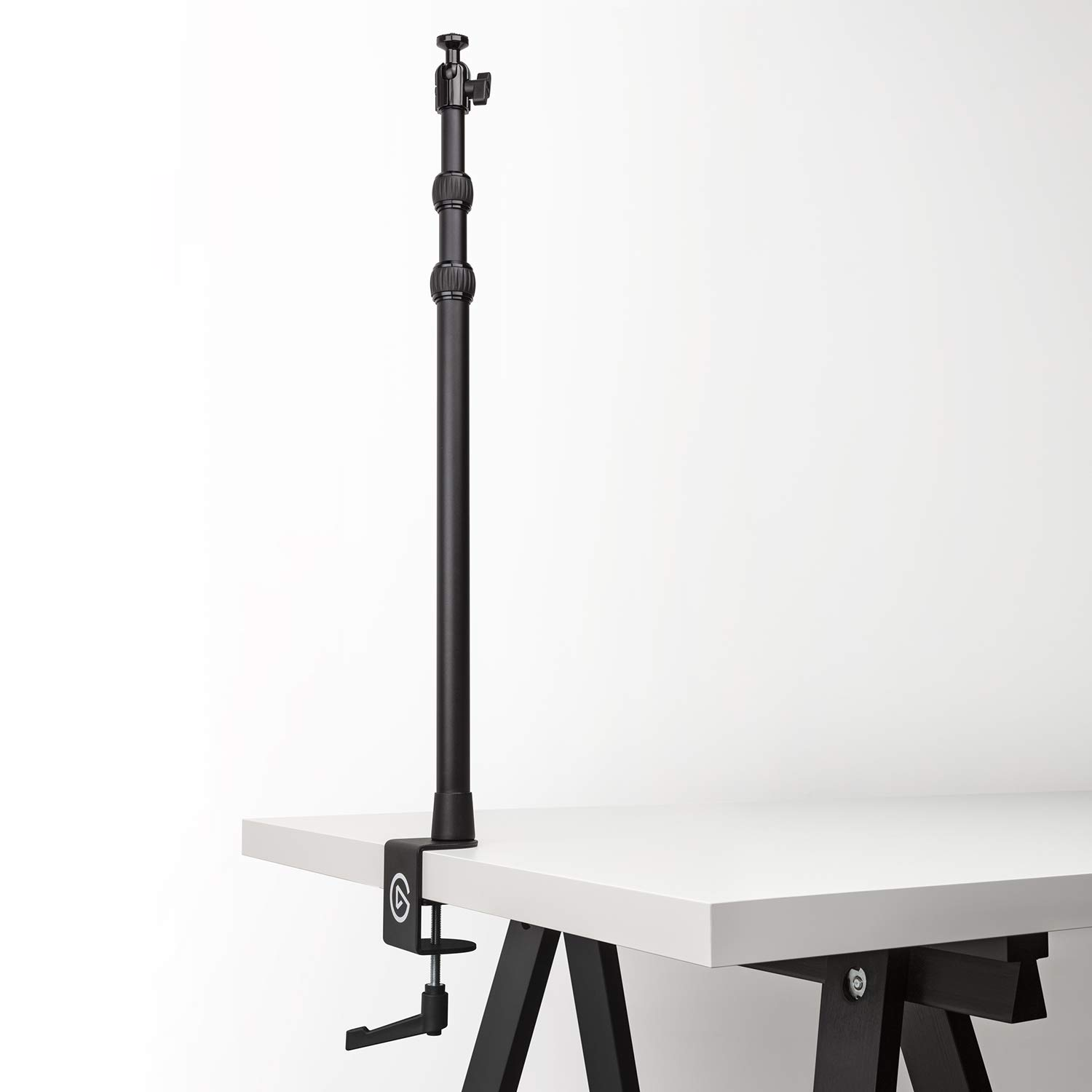 """Elgato Master Mount L, Extendable Up to 125 CM/ 49 Inches, Center Ball Head, 1/4"""" Screw, Padded Desk Clamp, Compatible with All Elgato Master Mount Accessories"""