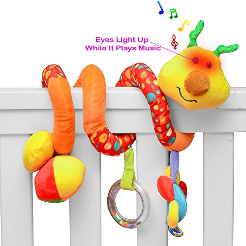 PlayBoom Giraffe Baby Crib Toy with Light & Music | Wraps