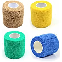 51Panda Pet Vet Wrap Bulk, 4 Roll 2 Inch Wide Self Adherent Stick Bandage Dog Elastic Non-Woven Wound Recovery Cohesive Tape for Dogs, Cats and Other Pets (2 Inch Wide x 14.76 ft Long)