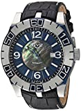 GV2 by Gevril La Luna Mens Swiss Automatic Black Leather Strap Watch, (Model: 8004)