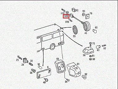 GTV INVESTMENT MB SPRINTER 903 A0028209156 luz de marcador lateral exterior