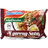 Indomie Instant Fried Noodles Satay Flavor HALAL for 10 Bags by N/A