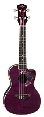 Luna Floral Flamed Maple Concert Ukulele