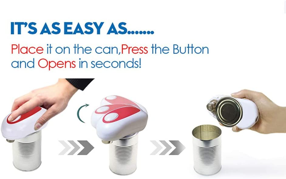 Automatic One Touch Can Opener Hands Free 4 AA Battery Operated for Restaurant Home Kitchen Not Include Battery Electric Can Opener