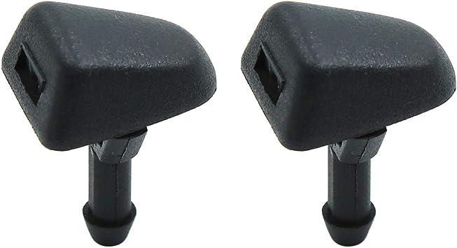 X AUTOHAUX 2pcs Black Plastic Front Windshield Wiper Nozzles 30655605 for Volvo