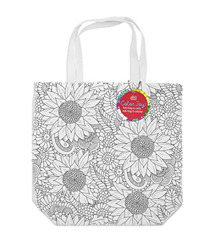 Tote Bag Coloring Products Tote Bag, Assorted Designs, 100 Percent Cotton