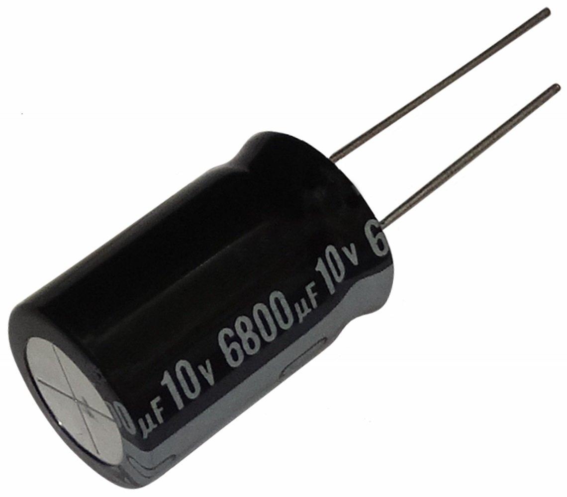 Aerzetix 2x Condensateur /électrolytique chimique 6800/µF /± 20/% 10V THT 105/°C 1000h /Ø16x25mm radial
