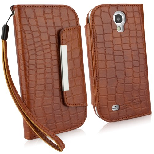 (BoxWave Crocodile Leather Clutch Galaxy S4 Case (Chestnut Brown))