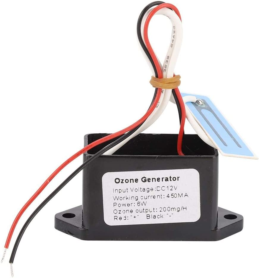 Purificador de Aire Portátil DIY Generador de Ozono Desinfección de Ozono Desodorizador de Aire Fresco DC12V para Agua Aire Cuarto de Baño Armario