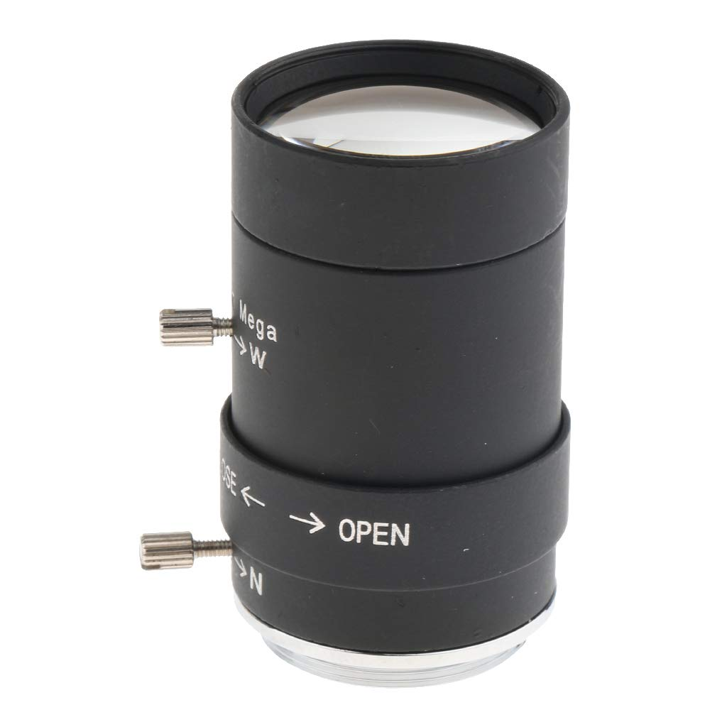 5-50mm F1.6 3MP(Megapixels) Varifocal CCTV Secure Camera Lens CS Mount Manual IRIS Zoom Lenses FOV 60-92 Degree by Gazechimp