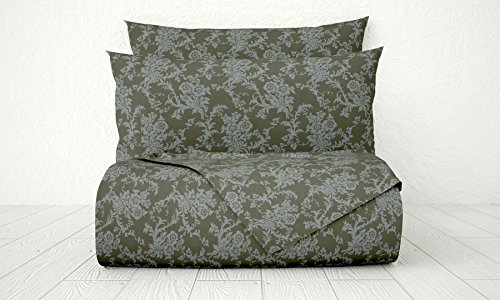 Xara Luxury 33234 4 Piece Damask 1800 Series Printed Cotton Essential Embossed Tone on Tone Bed Sheet Set, Full, Dark - In New Macy Jersey