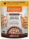 Instinct Healthy Cravings Grain Free Real Chicken Recipe Natural Wet Cat Food Topper by Nature's Variety, 3 oz. Pouches (Case of 24) Larger Image