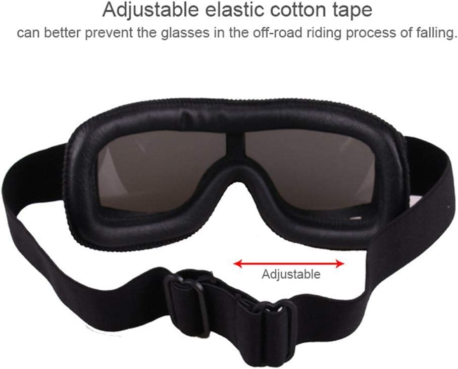 Fahrrad-Sonnenbrille Snowboard cooles Fahrrad HD-Motorrad-Biker-Harley-Brille winddichte Brille f/ür Herren AOLVO Vintage-Motorradbrille UV-Motorradbrille