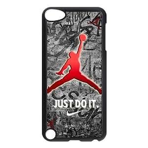 Air Jordan Ipod Touch 5th Hard Plastic Protector Cover Case Michael Jordan logo Gift Idea-black&white