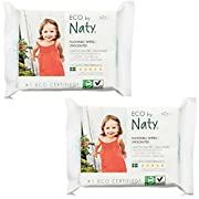 Naty, ECO by Naty Flushable Baby Wipes, Unscented (42 count, Pack of 2)