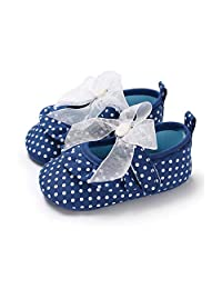 Liobaba Newborn Baby Shoes Magic Hasp First Walkers Shoes Anti-Slip Soft Sole Casual Dot Pattern Shoes for Toddler Infant