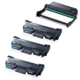 4PK TONER4U ® (Image Unit+ 3 Toner Cartridge) NON-OEM 101R00474 Imaging Drum Unit & 106R02777 Compatible with Xerox Phaser 3052, 3260, WorkCentre 3215, 3225