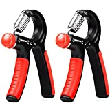 Lift Heavy Fitness Premium Hand & Grip Strengthener – Adjustable Resistance Exercise & Training Workout Accessory For Finger, Wrist & Forearm Strengthening – (orange, pair) Review
