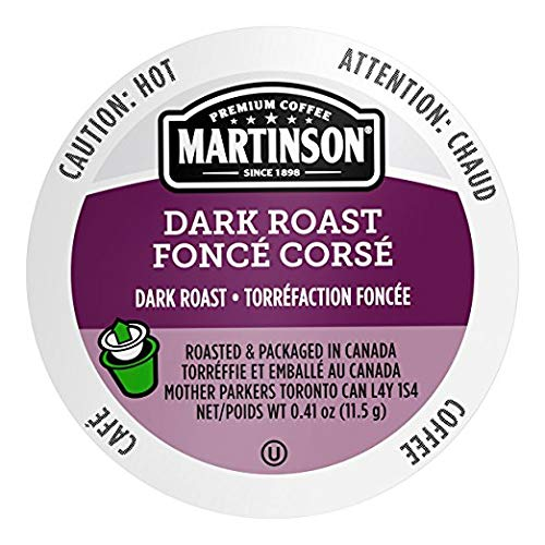 Martinson Single Serve Coffee Capsules, Dark Roast, 24 Count (Pack of 4)