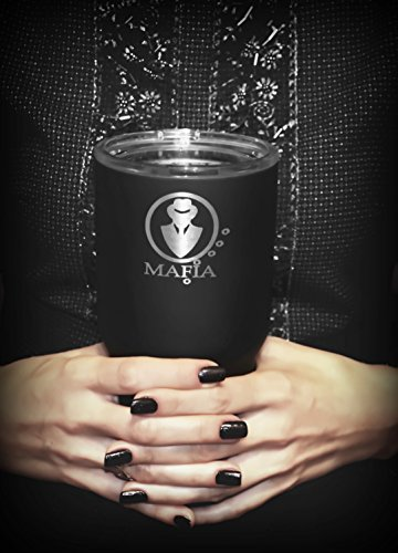 Mafia Invisible 30 oz. Tumbler - Birthday Gifts - Gifts for Men - Double Wall Stainless Steel Vacuum Insulated Tumbler - Gifts for Women - Tumblers with lids and straws - Best friend gifts - Dad Gifts