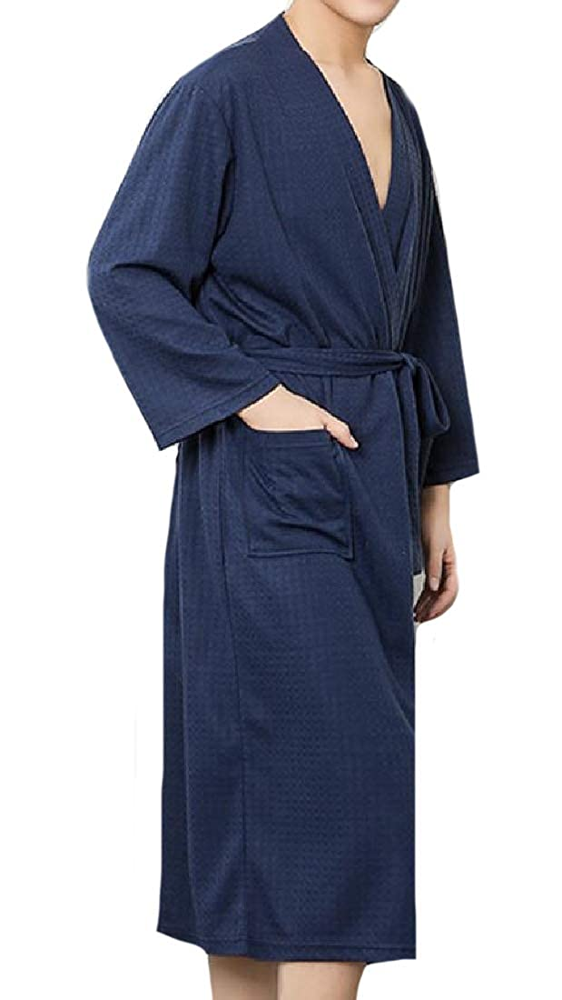 CuteRose Mens Mid Weight Waffle Knit Tie Waist Performance Knit Robe at  Amazon Men s Clothing store  d2177c4d6