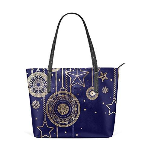 decorazioni di Bag A e della borse Tote Natale donne tracolla le pelle borsa medio PU COOSUN sacchetto muticolour in per 1fIqYw66