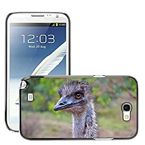 Hot Style Cell Phone PC Hard Case Cover // M00116597 Emu Australia Bird Fly Feather // Samsung Galaxy Note 2 II N7100