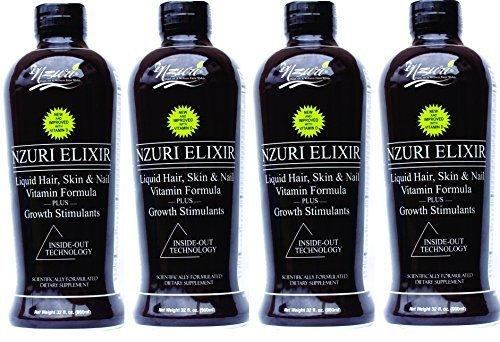 4-32 Oz Bottles - Nzuri Elixir - Liquid Hair Vitamin Plus Growth Stimulants by Nzuri by Nzuri