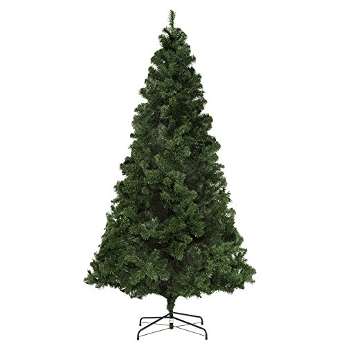 Homegear Deluxe 7.5ft Artificial Spruce Christmas Tree with Metal Stand by Homegear