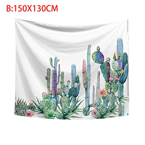 Kay CowperCactus Tapestry Wall Hanging and Cactus Plant Printed Tapestry Cactus Watercolor Tapestry - Meadow Decor Loveseat