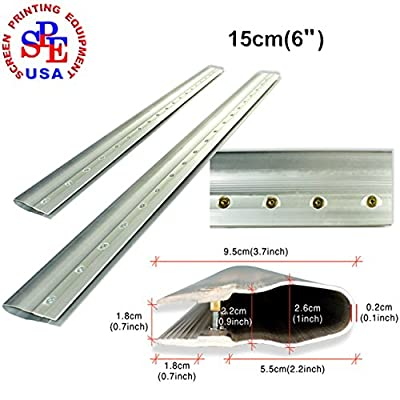 2pcs For Each Kinds Aluminum Alloy Handle Screen Printing Squeegee