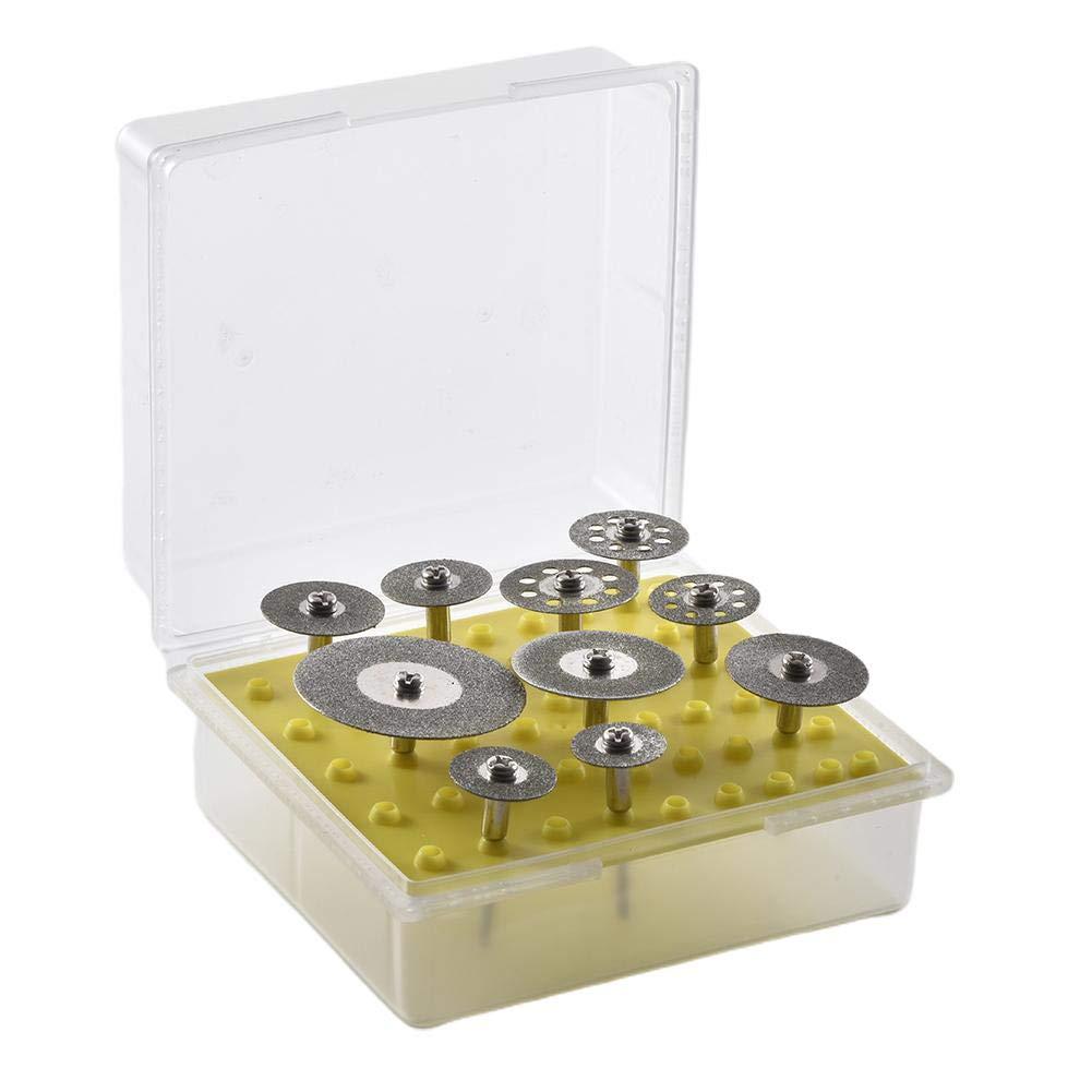 Rueda de Corte de Diamante para Herramienta giratoria Rueda de Corte de Diamante Discos de Corte de Sierra con Revestimiento de Diamante Set 10PCS 3mm 2.35mm