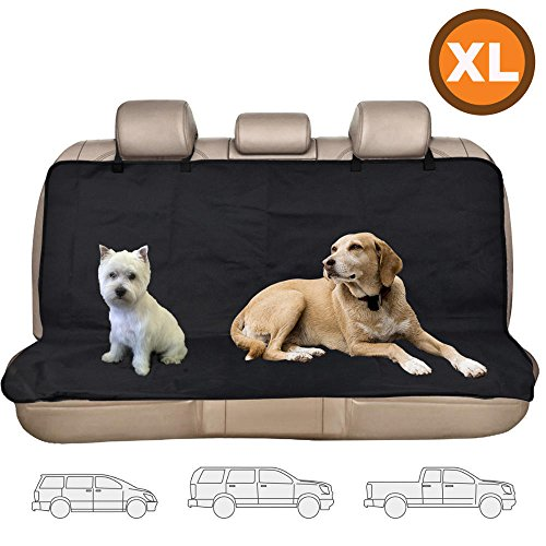 Dog Cat Bench Protector Seat Cover Oxford Waterproof Pet Hammock XL for Vans SUV (Pottery Barn Sunbrella)