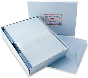 B/üttenpapier mit feiner Rippenstruktur Korrespondenzkarten DIN A6 mit Briefumschl/ägen Original Crown Mill Classic Line Set Wei/ß 15 St/ück