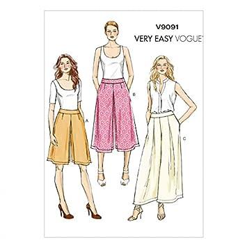 Vogue Damen Schnittmuster 9091 Culotte & Hose + gratis Minerva ...