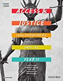 Cover of Access and Justice VCE Legal Studies Units 1&2 Student book + obook assess
