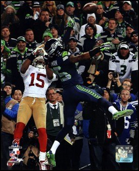 Richard Sherman pass deflection 2013 Nfc Championship Game Art Poster Print Unknown